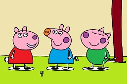 Peppa and friends