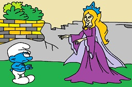 Smurf and witch