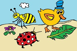 Duck, ladybug and friends