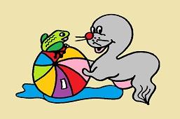 Seal and baloon