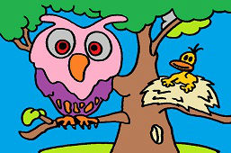 Owl and bird