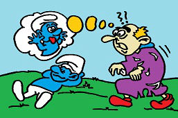 Smurf and Gargamel