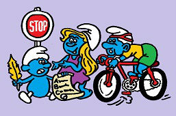 Smurfs on the road