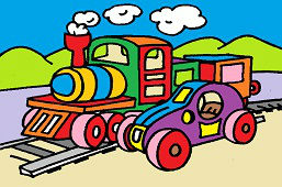 Freight train and car