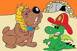 Little dragon and bulldog