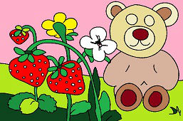 Bear and strawberry