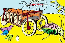 Grasshopper and cart