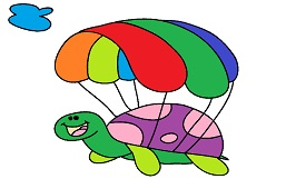 Parachutist turtle