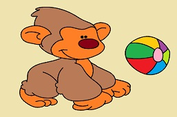 Monkey and balloon