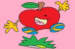 Jumping apple
