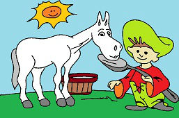 Horse and Johnny Little Pea