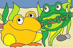 Green and Yellow Frogs