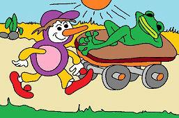 Osmijohn and lazy frog