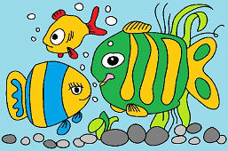 Cute color fish