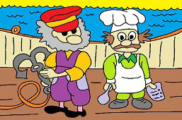 Captain and chef