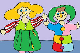 Clown and doll