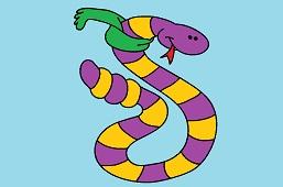Tri-color snake