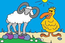 Ram and bird