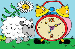 Sheep and Alarm Clock