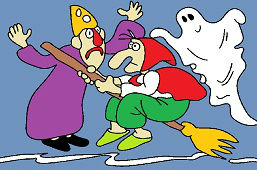 Witch, wizard and ghost