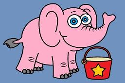 Elephant and bucket