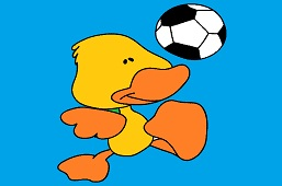 Duck with a ball