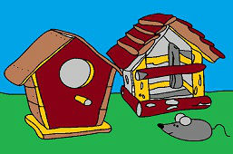 Bird boxes and mouse