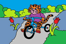 Tiger on a tricycle