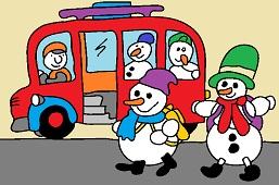 Bus for snowmen