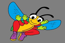 Little bee with shoes