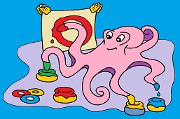 Octopus and paints
