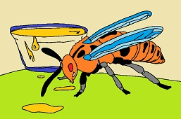 Wasp and sweet juice