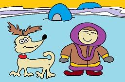 Eskimo and doggie