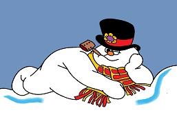 Snowman rests