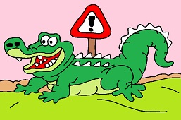Beware of crocodiles!