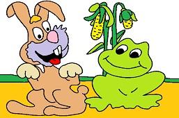 Bunny and frog