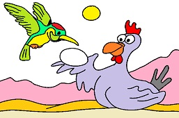 Hummingbird and hen