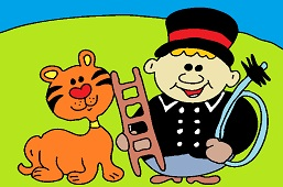 Chimney sweep and kitty