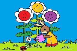 Bunny gardener