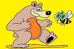 Bear and Honey bee