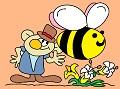 Elf and big bee