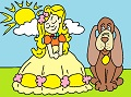 Princess with a dog