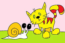 Snail and Kitty Cat