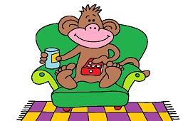 Monkey watch TV