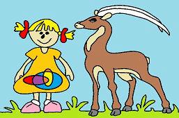 Girl and Antelope