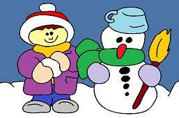 Friend snowman