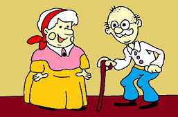 Grandma with grandpa