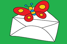 Butterfly and envelope