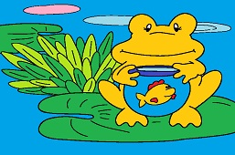 Frog and fish