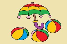 Umbrella and balls